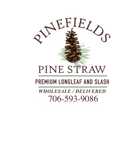 The final logo for Pinefields Pine Straw