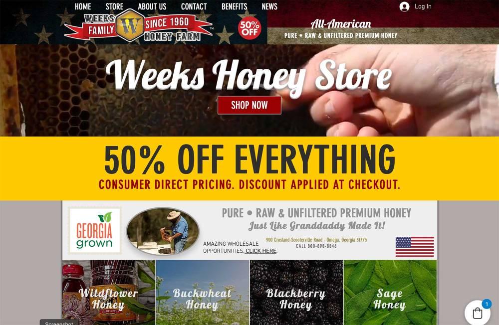 Weeks Honey Farm 2020 Website