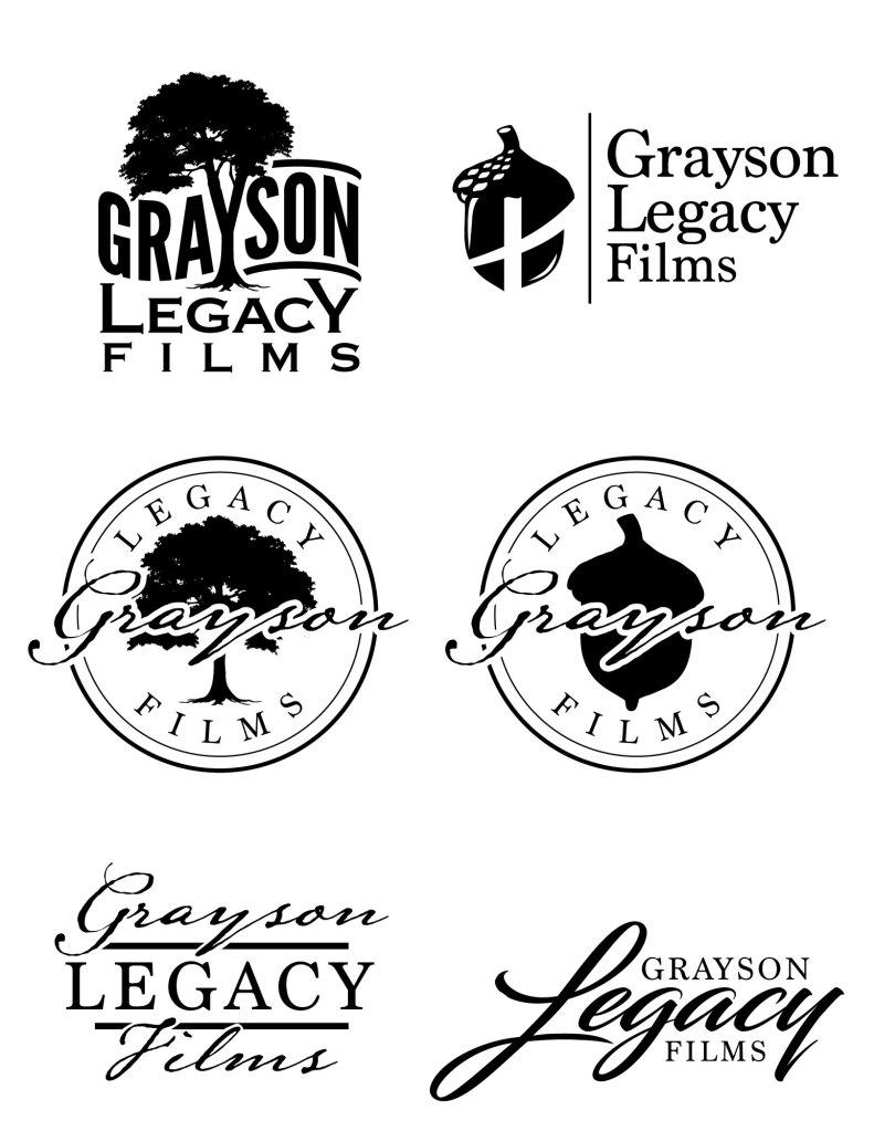 Grayson Legacy Films Logo Concepts